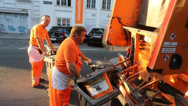 Müllabfuhr in Wien