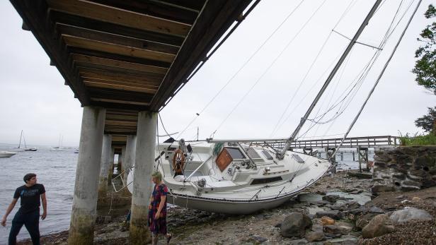 Tropical Storm Henri in Rhode Island