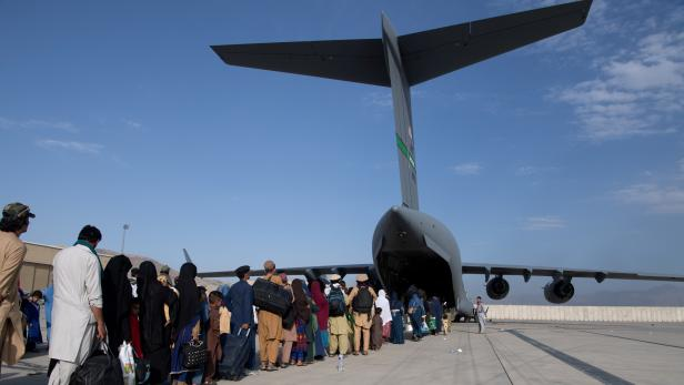 FILE PHOTO: Evacuation from Hamid Karzai International Airport in Kabul