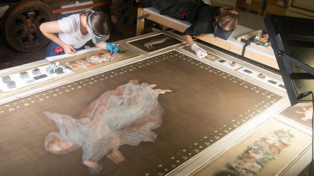 Pompejanischer Salon, Restaurierung