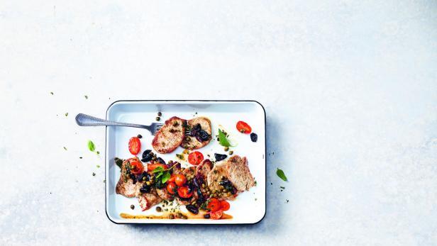 Rezept für mediterrane Schweinsschnitzel