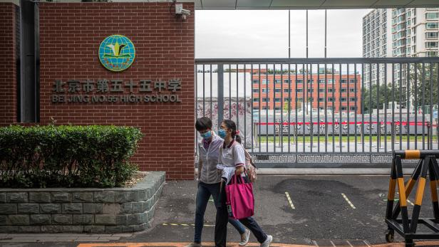 School students begin the fall semester in Beijing