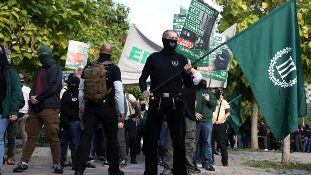 Demonstration of far-right party The Third Path in Berlin