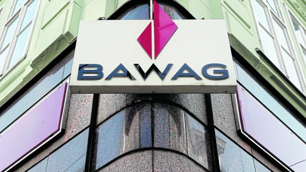 FILE PHOTO - BAWAG P.S.K. logo is pictured at a branch office in Vienna