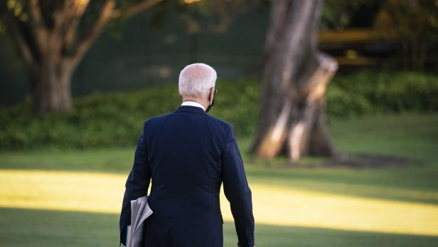 US President Joe Biden departs White House
