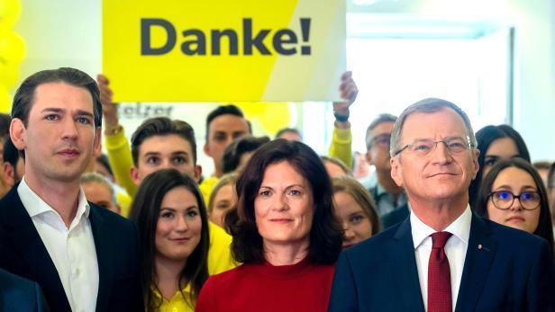 OÖ-WAHL: ÖVP-WAHLZENTRUM - KURZ/STELZER