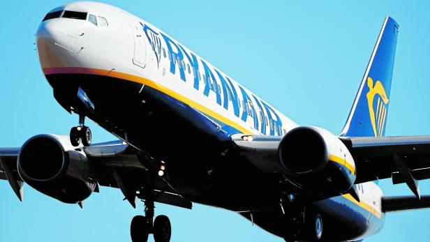 FILE PHOTO: A Ryanair Boeing 737 aircraft approaches Paris-Beauvais airport in Tille, France
