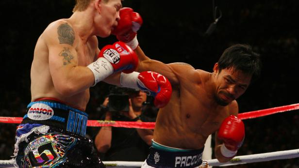 FILE PHOTO: Ricky Hatton v Manny Pacquiao IBO Light-Welterweight Title