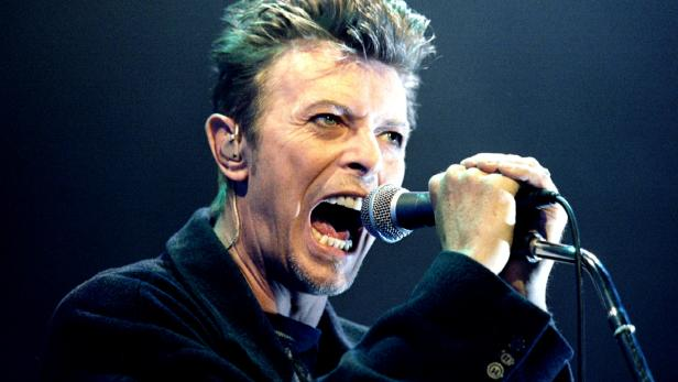 FILE PHOTO: British pop star David Bowie screams into the microphone as he performs on stage during his concert