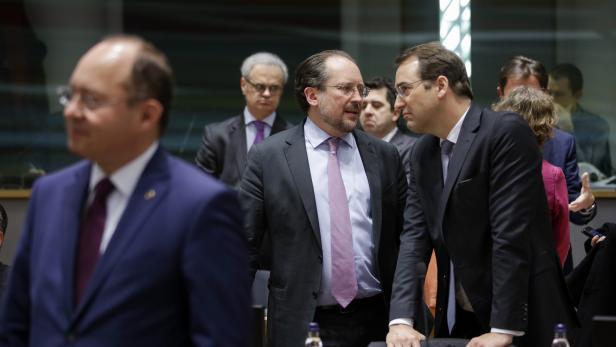 ++ HANDOUT ++ SONDERTREFFEN EU-AUSSENMINISTERRAT ZUM IRAN-KONFLIKT IN BRÜSSEL: SCHALLENBERG / MARSCHIK