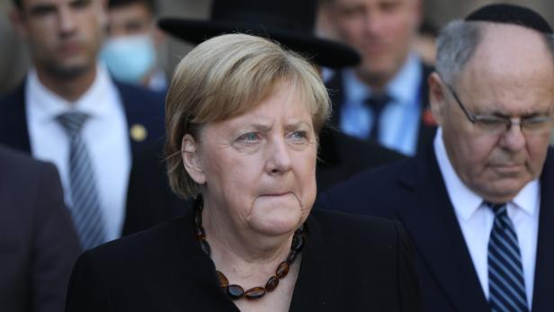 German Chancellor Angela Merkel visits  in Jerusalem