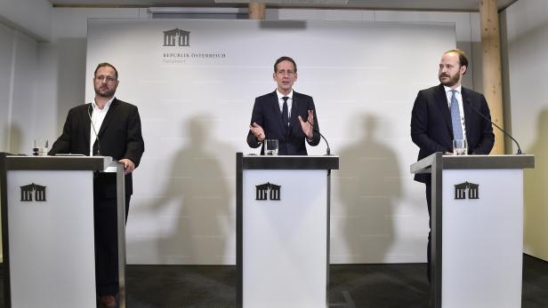 SPÖ, FPÖ, NEOS - EINIGUNG AUF NEUEN U-AUSSCHUSS: KRAINER / HAFENECKER / SCHERAK