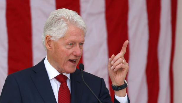 FILE PHOTO: Former U.S. President Bill Clinton speaks during a public memorial for Robert F. Kennedy at the 50th anniversary of his assassination at Arlington National Cemetery