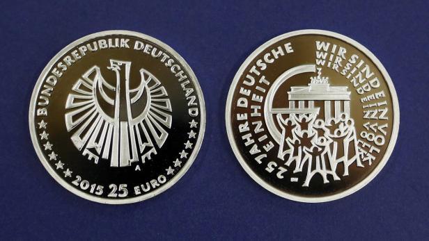 Deutsche Bundesbank 25 Euro Münze Ausreise Info
