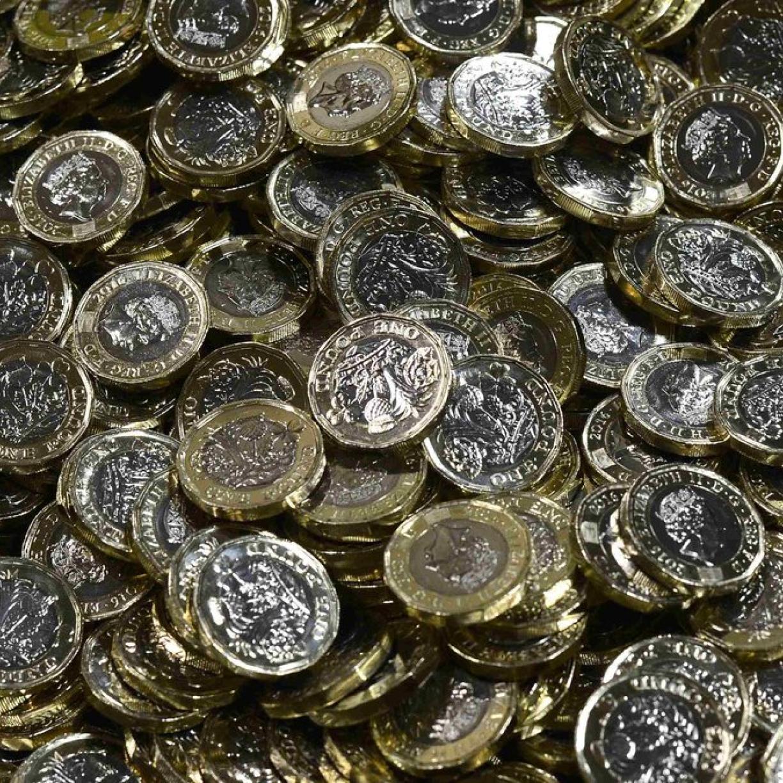 Zwölfeckig Briten Führen Neue Ein Pfund Münze Ein Kurierat