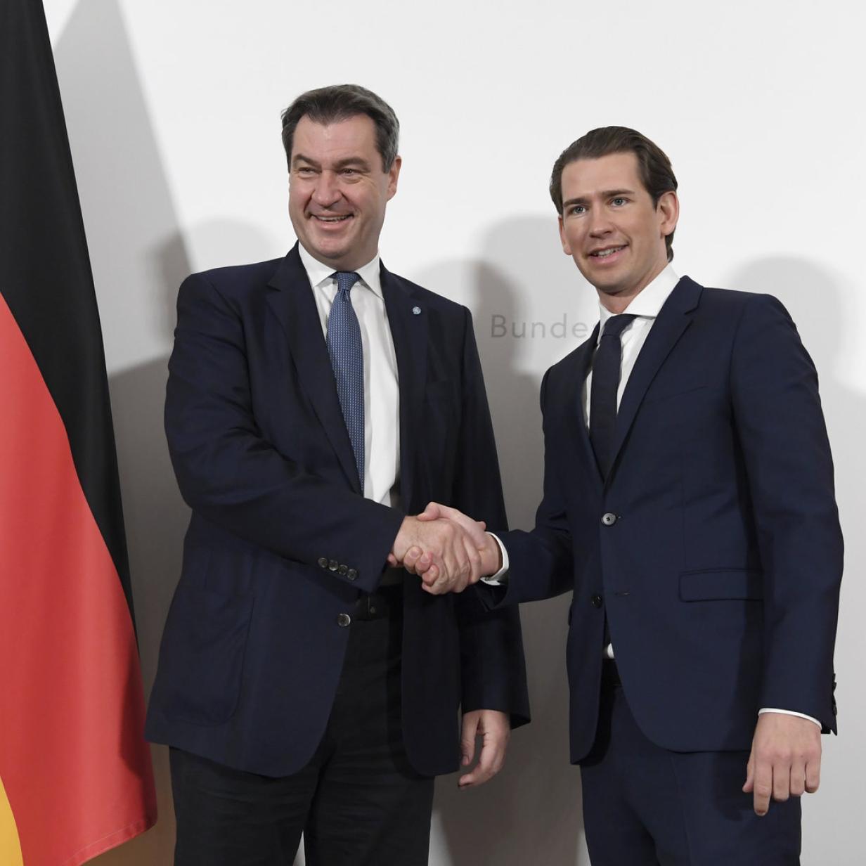 EU: Kurz und Söder lehnen Kooperation mit Rechtspopulisten ab