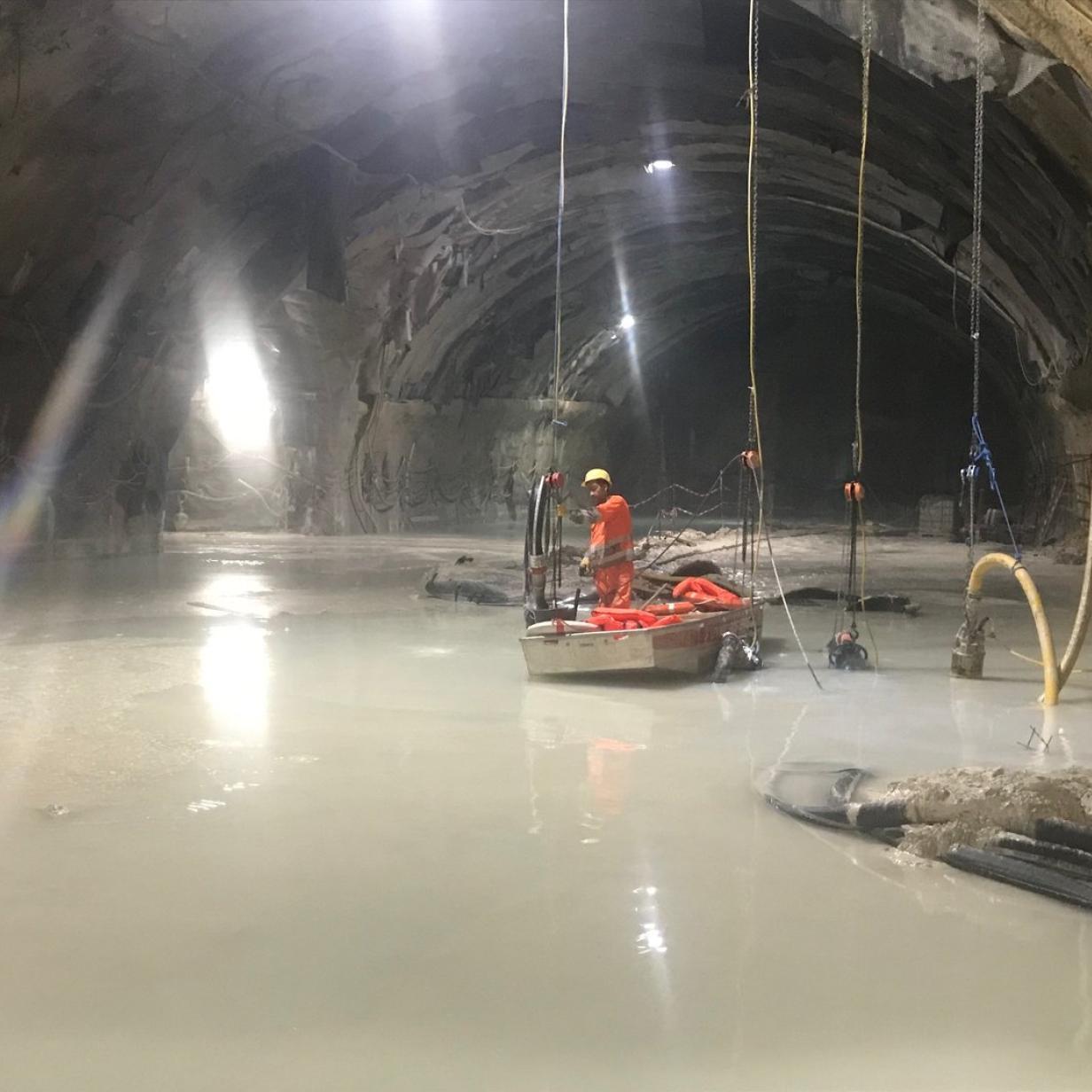 """""""Land unter"""" 250 Meter tief im Semmering-Basistunnel"""