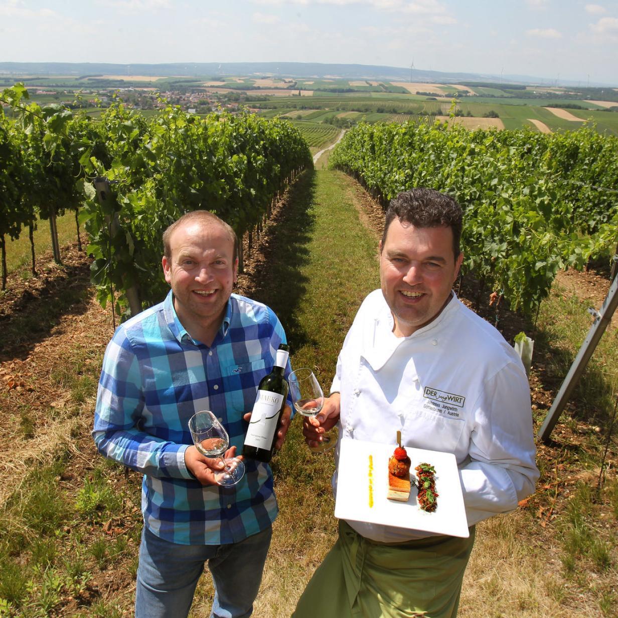Haubenwirt trifft Winzer: Exklusiver Genuss im Weingarten