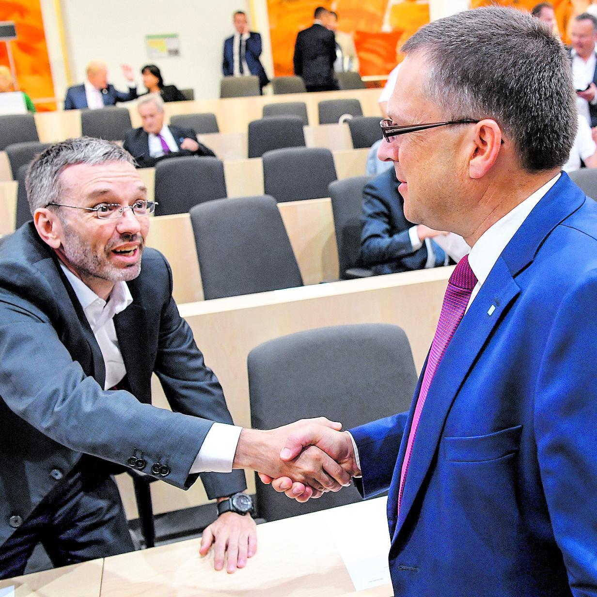 Koalition nur ohne Kickl? Wöginger widerspricht Blümel