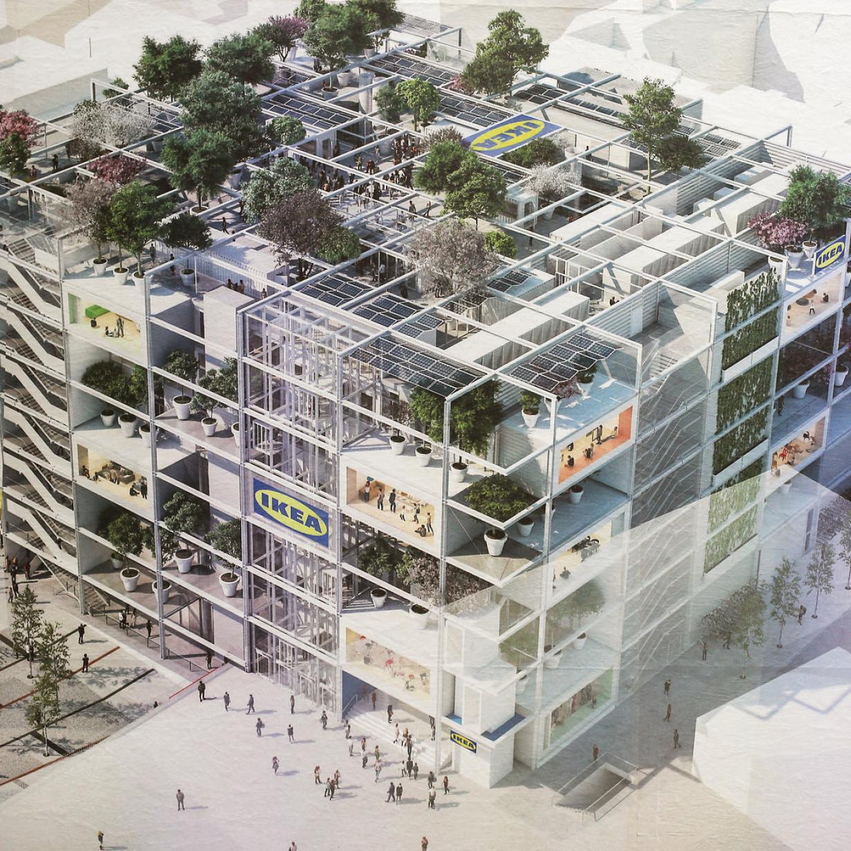 Ikea beim Westbahnhof: Hotel zieht in die oberen Stockwerke ein
