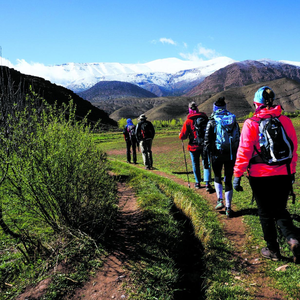 Wandern in Marokko: Schnee statt Wüste