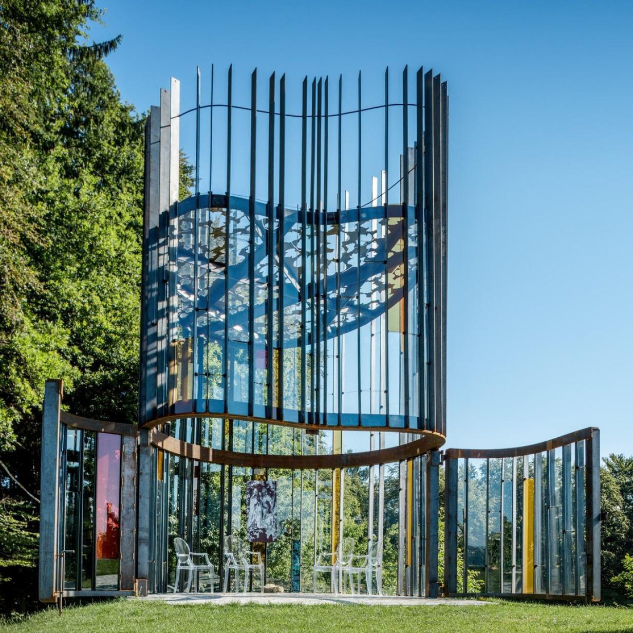 Besondere Architektur: Kapelle in Kirschform