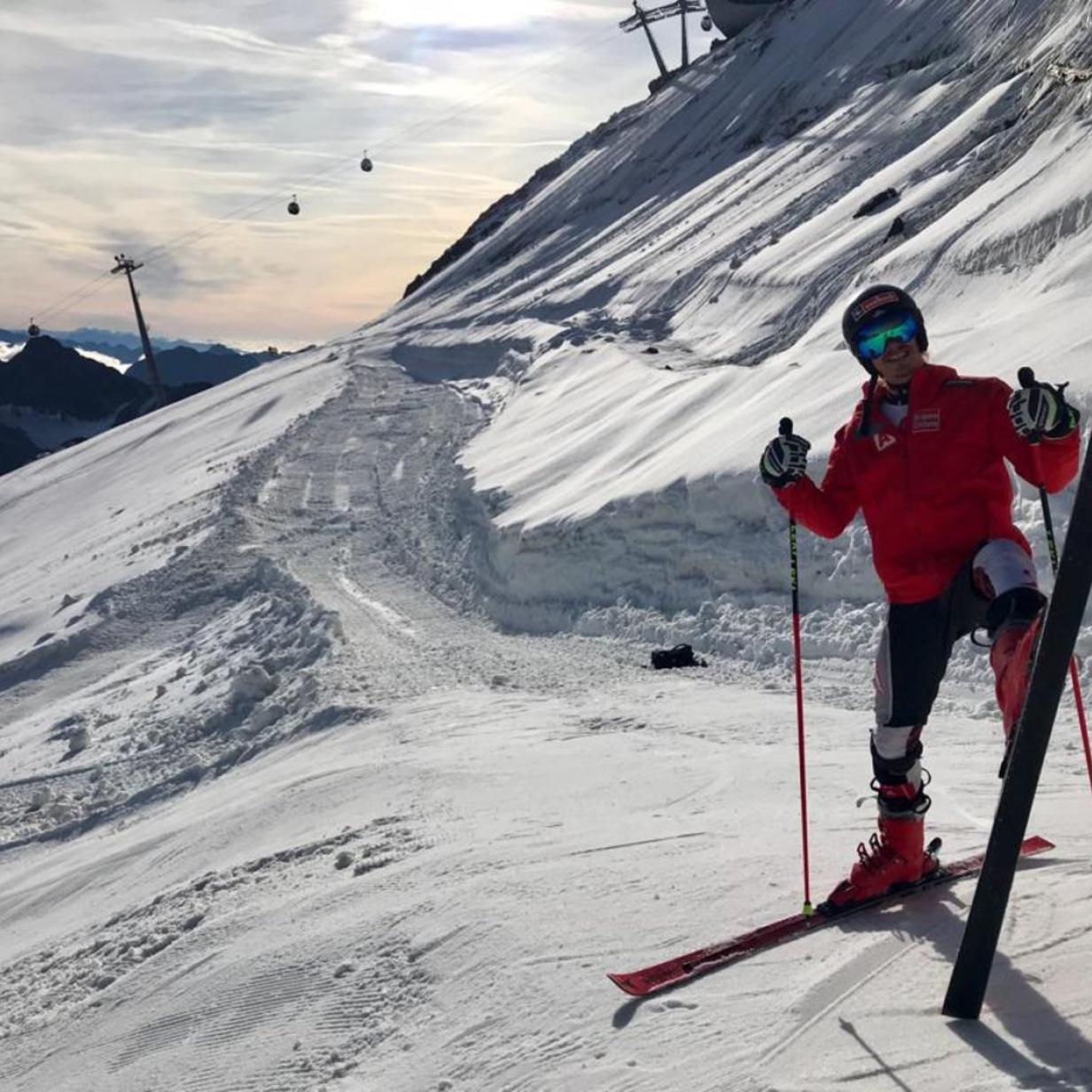Vier ÖSV-Läufer hatten einen Gletscher für sich allein