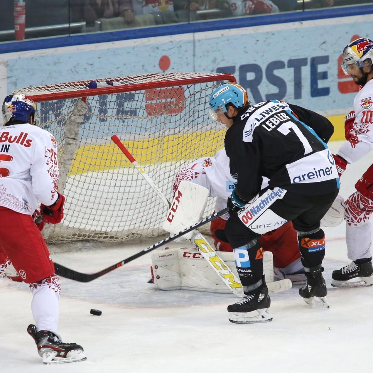 Eishockey: Linz ringt Salzburg in der Verlängerung 5:4 nieder