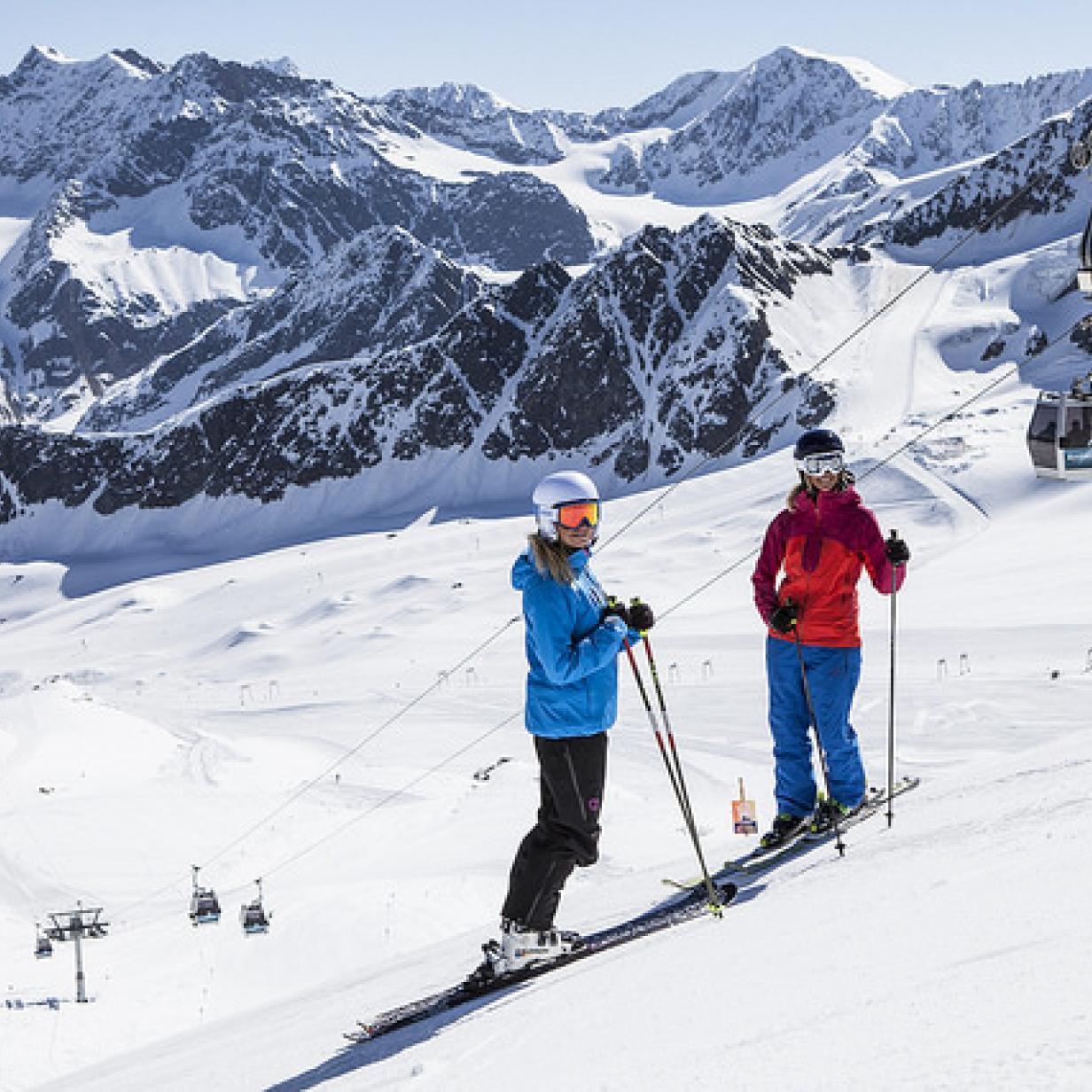 Auf diesen Gletschern können Sie schon Skifahren