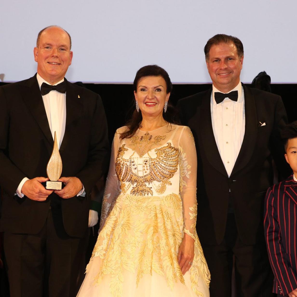 Fürst Albert II. wurde in Wien mit Friedenspreis geehrt