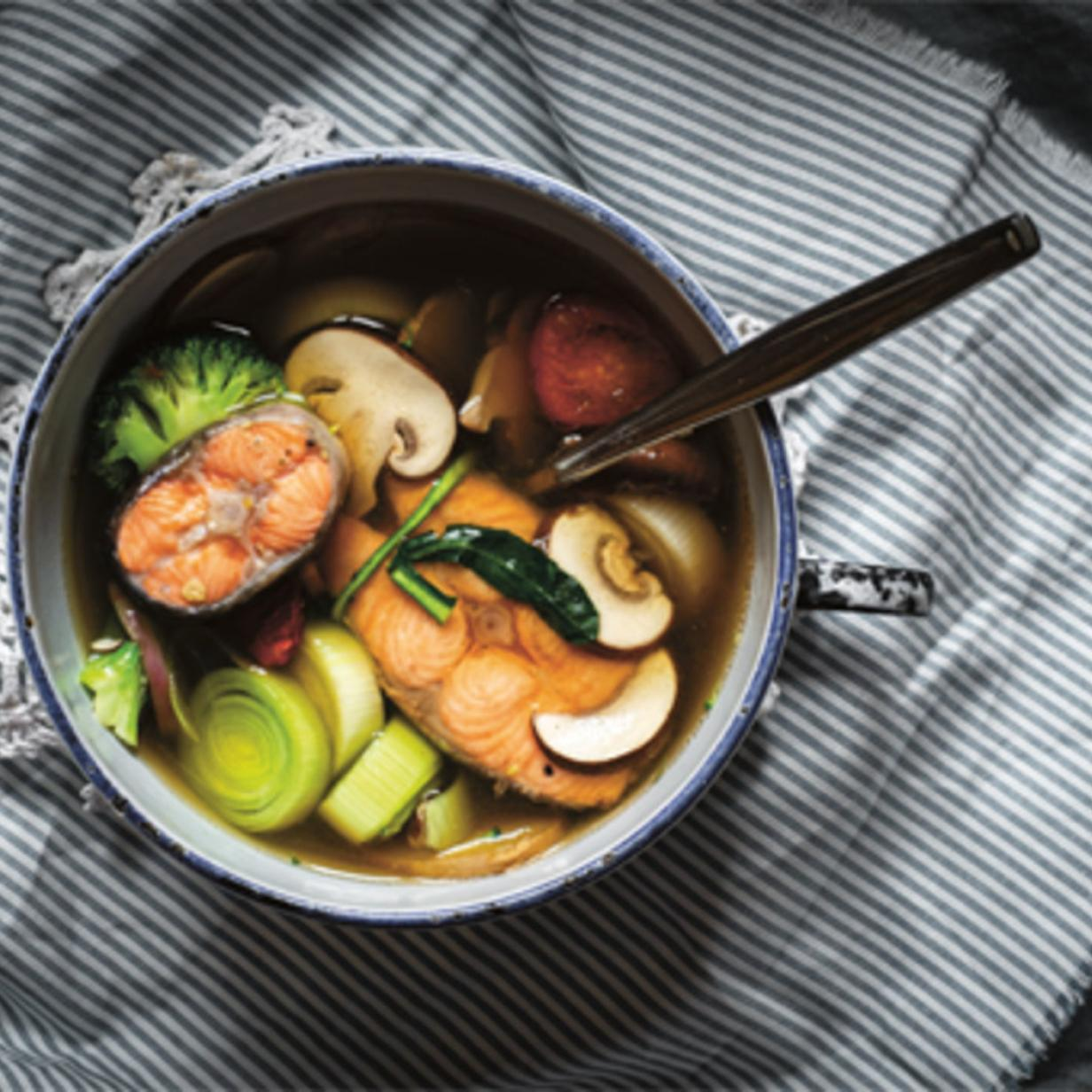 Rezept: Ingwer-Gemüse Fischsuppe