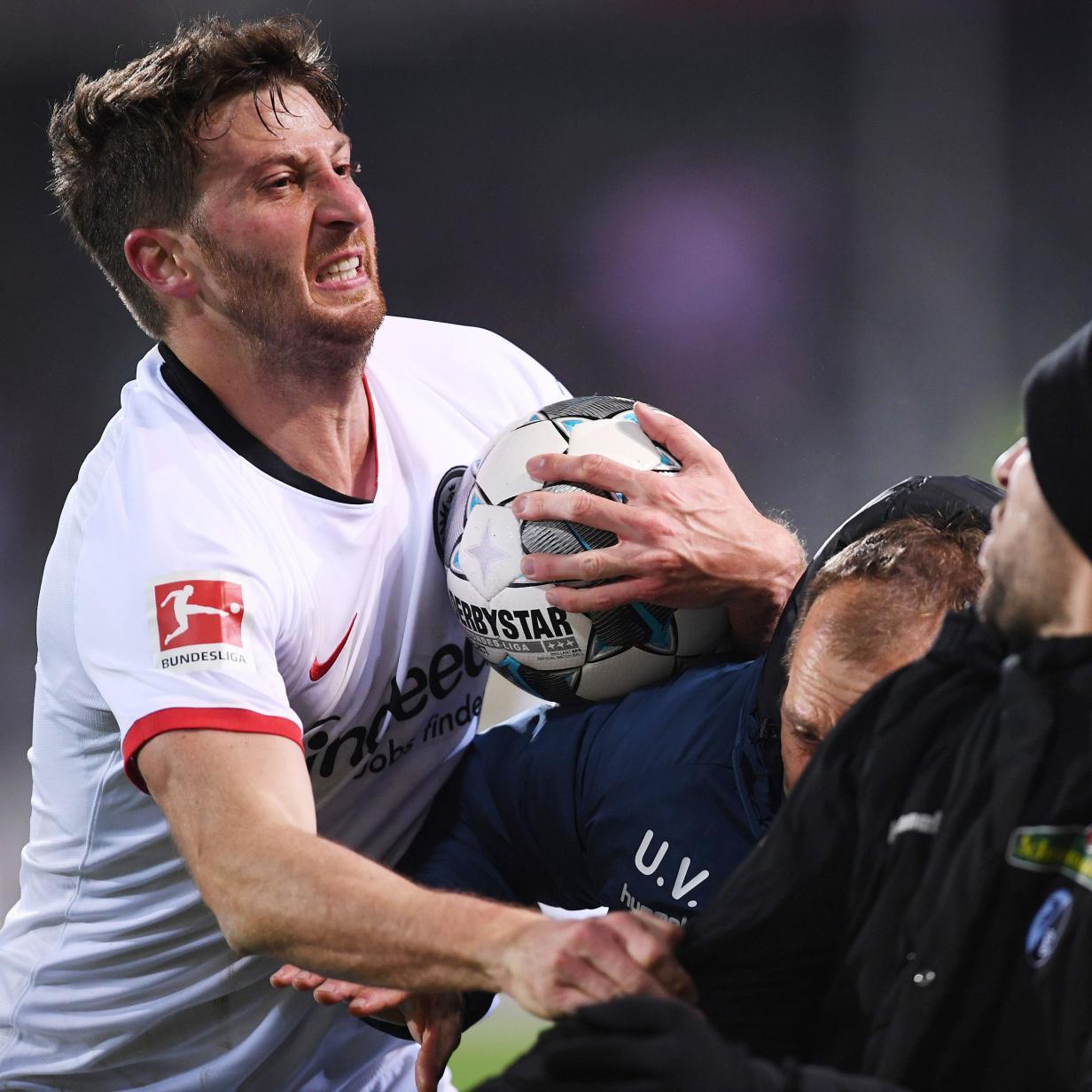 Rempler gegen Streich: Frankfurt-Kapitän 7 Wochen gesperrt