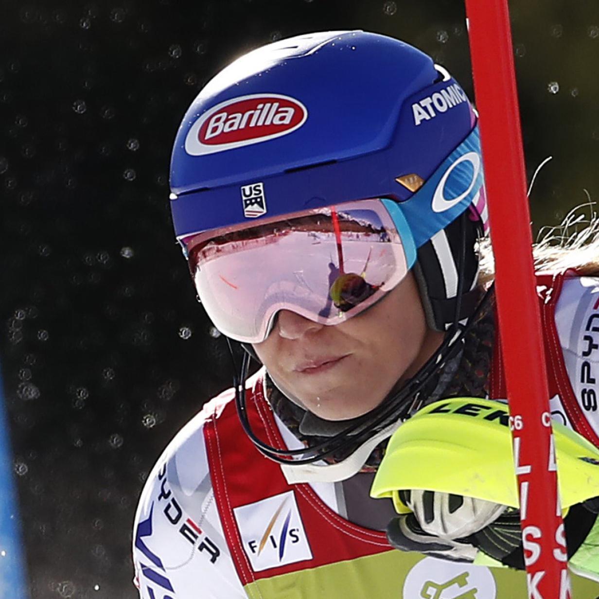 Damen-Slalom in Levi: Ein Rennpferd jagt das Rentier