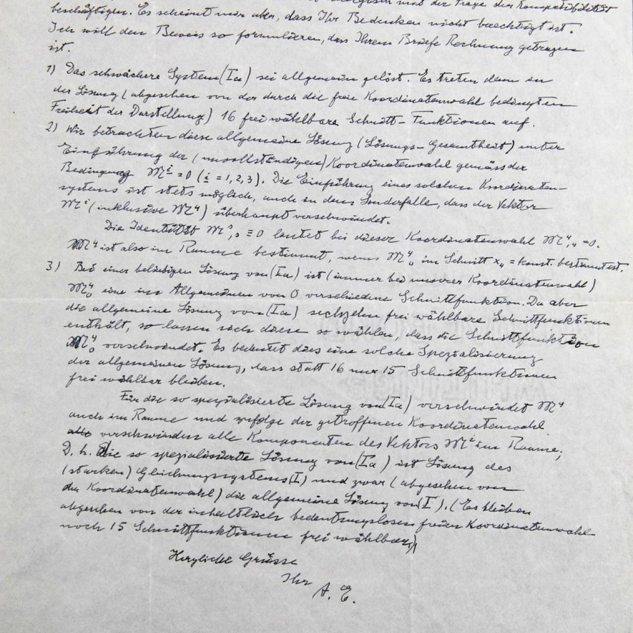 Brief von Physik-Genie Albert Einstein – und keiner wollte ihn