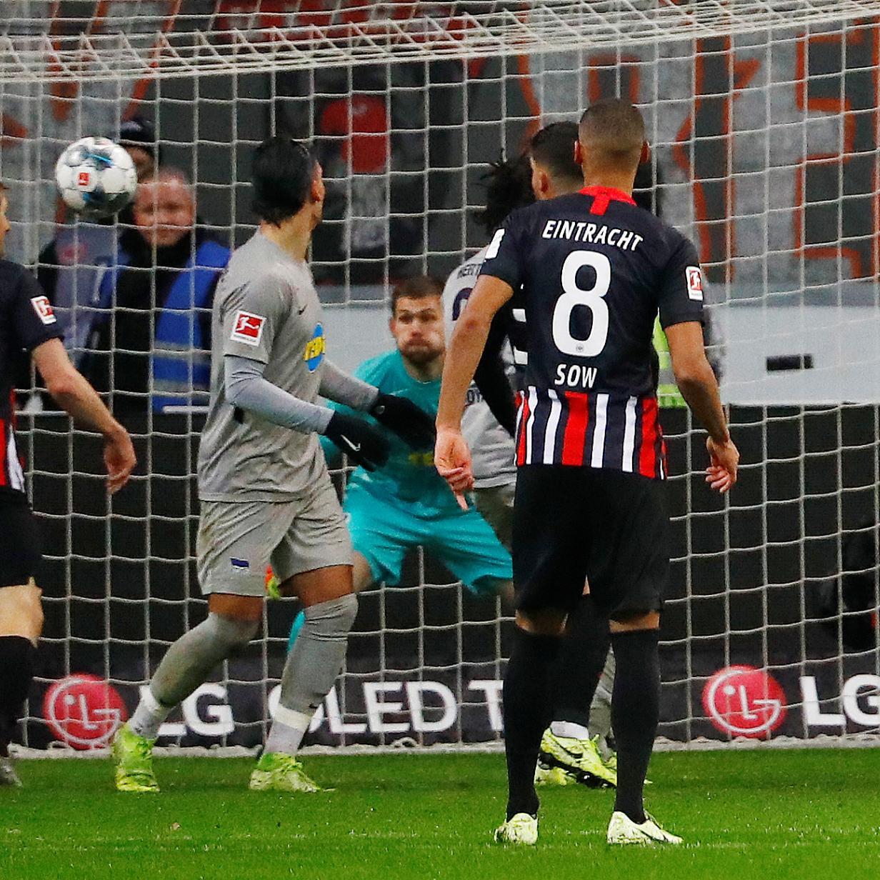Hinteregger traf für Eintracht Frankfurt beim 2:2 gegen Hertha