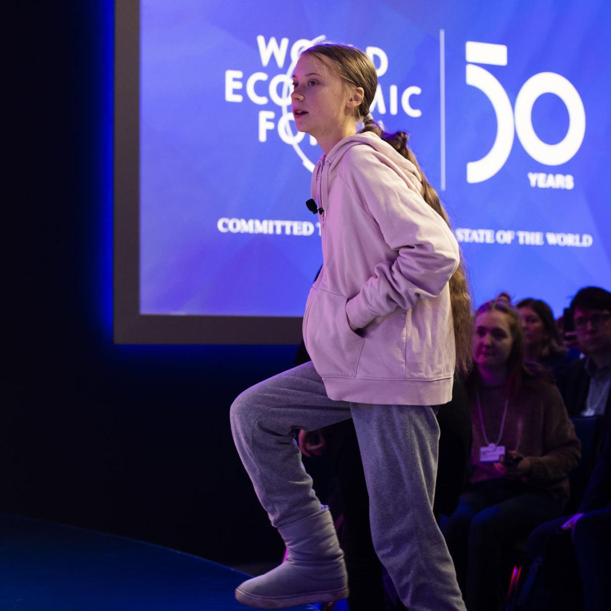 Davos: Greta spielt gegen Trump auf
