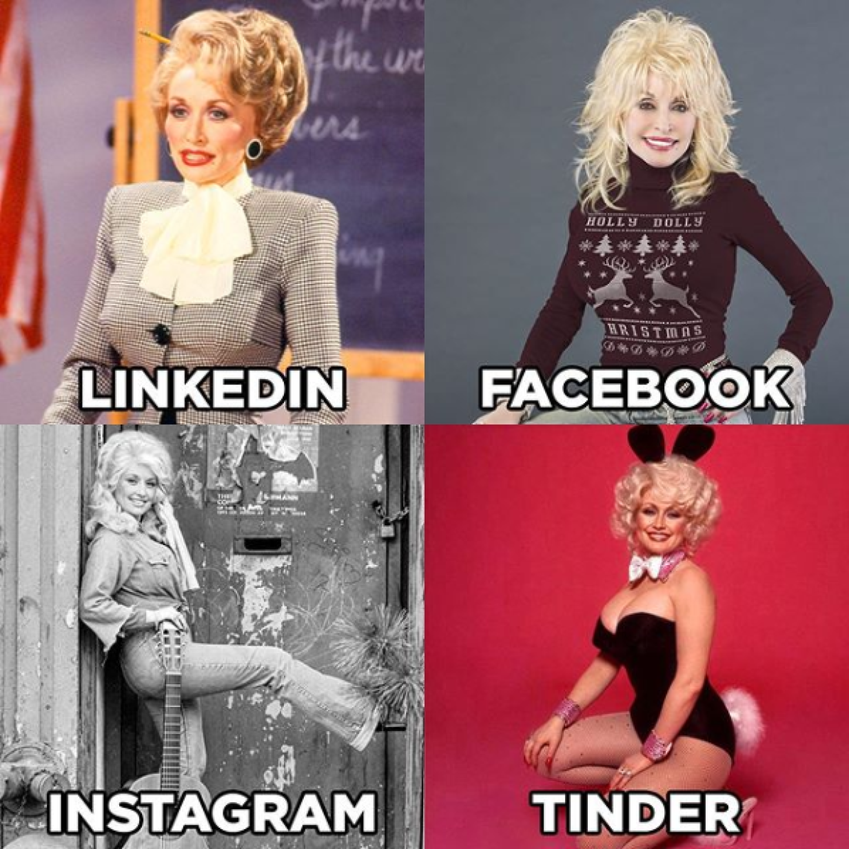 """Stars hypen """"LinkedIn Facebook Instagram Tinder""""-Challenge"""