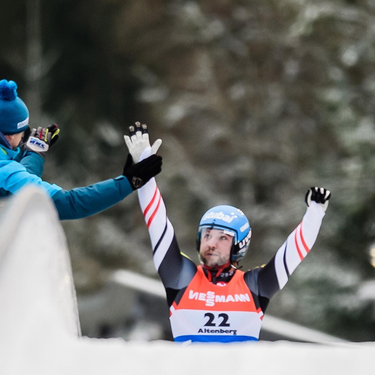 Rodeln: David Gleirscher in Sigulda Weltcup-Dritter