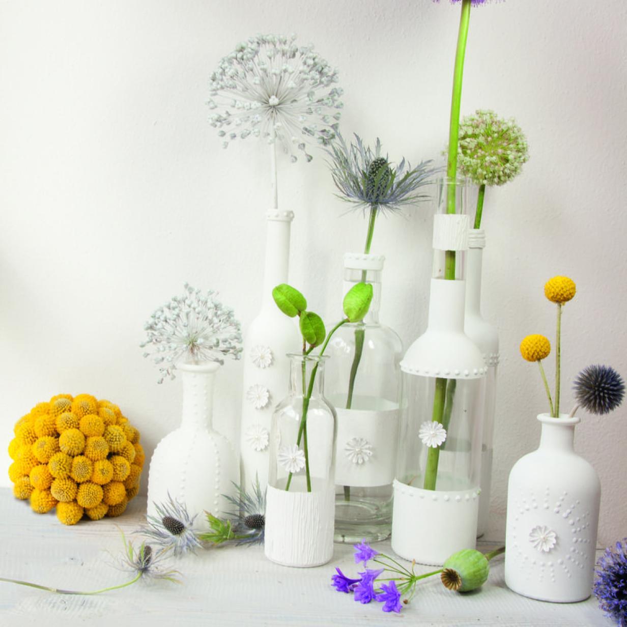 DIY: Von der Flasche zur Vase