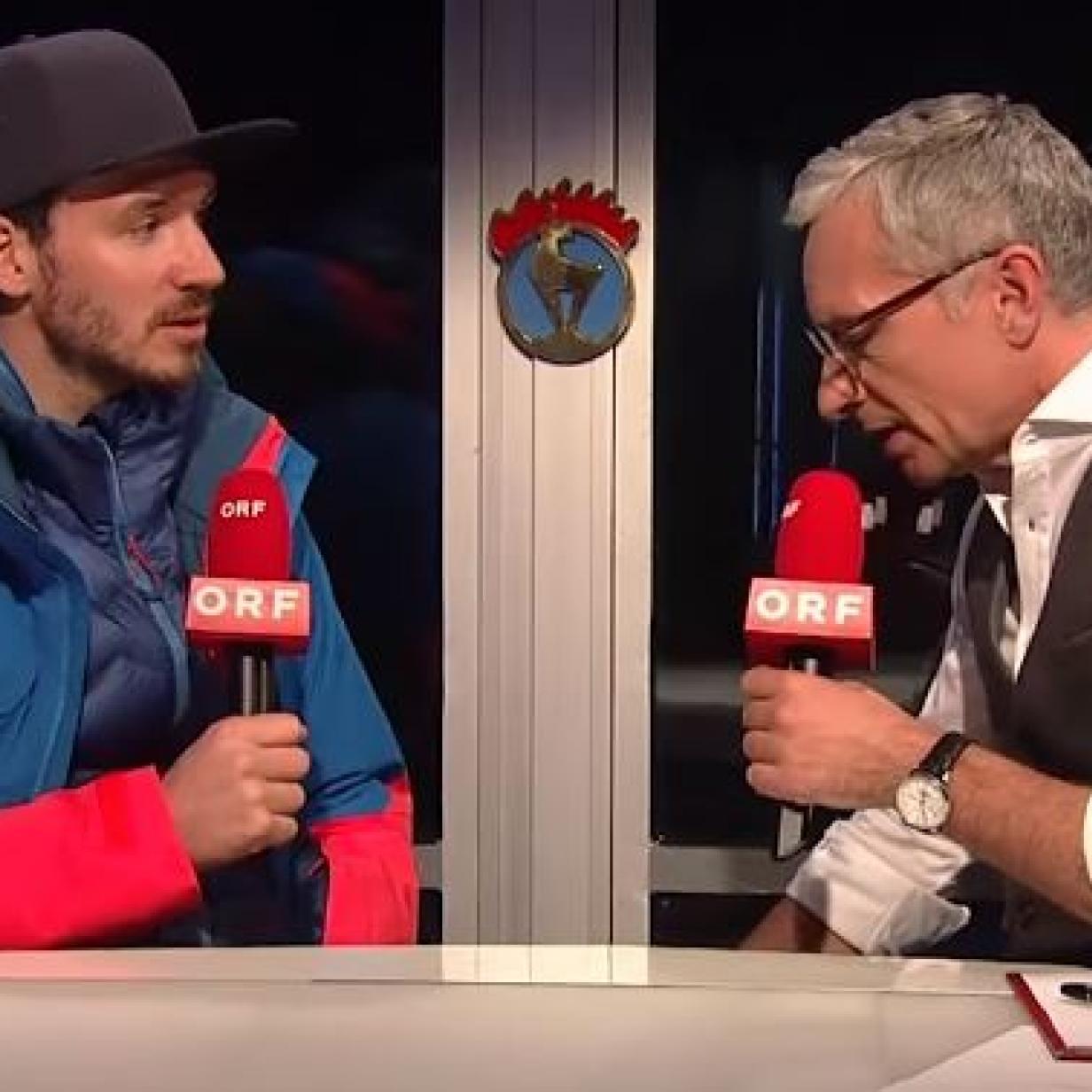 Ex-Ski-Star Neureuther und Rainer Pariasek tauschten die Rollen
