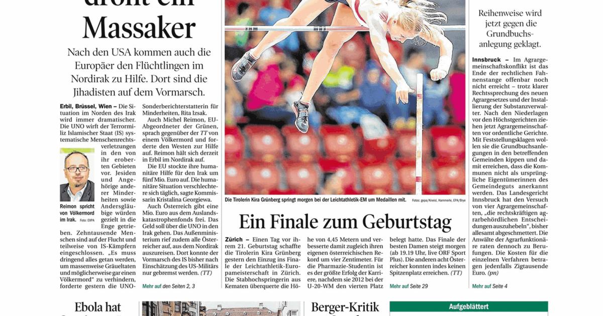 Tiroler tageszeitung partnersuche