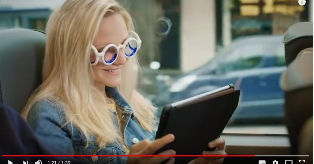 Reisekrankheit: Eine Brille ohne Gläser soll helfen