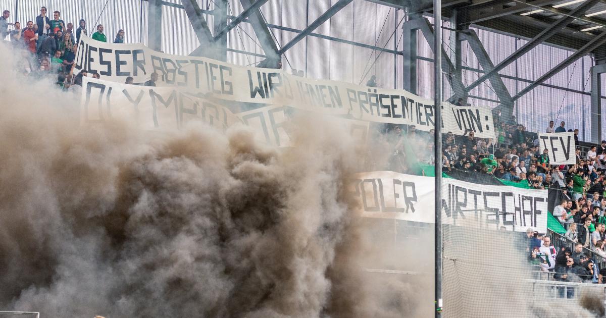 Ohne Rauch geht's auch: Zigarettenverbot im Tivolistadion