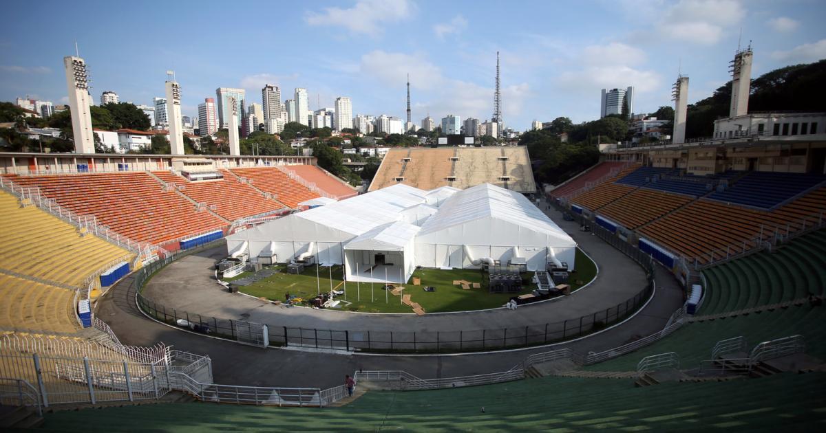 Das Stadion als Corona-Lazarett: In Brasilien wird umgebaut