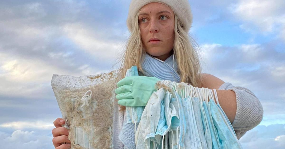 Schiff verlor Container: Tausende Gesichtsmasken in Australien angespült
