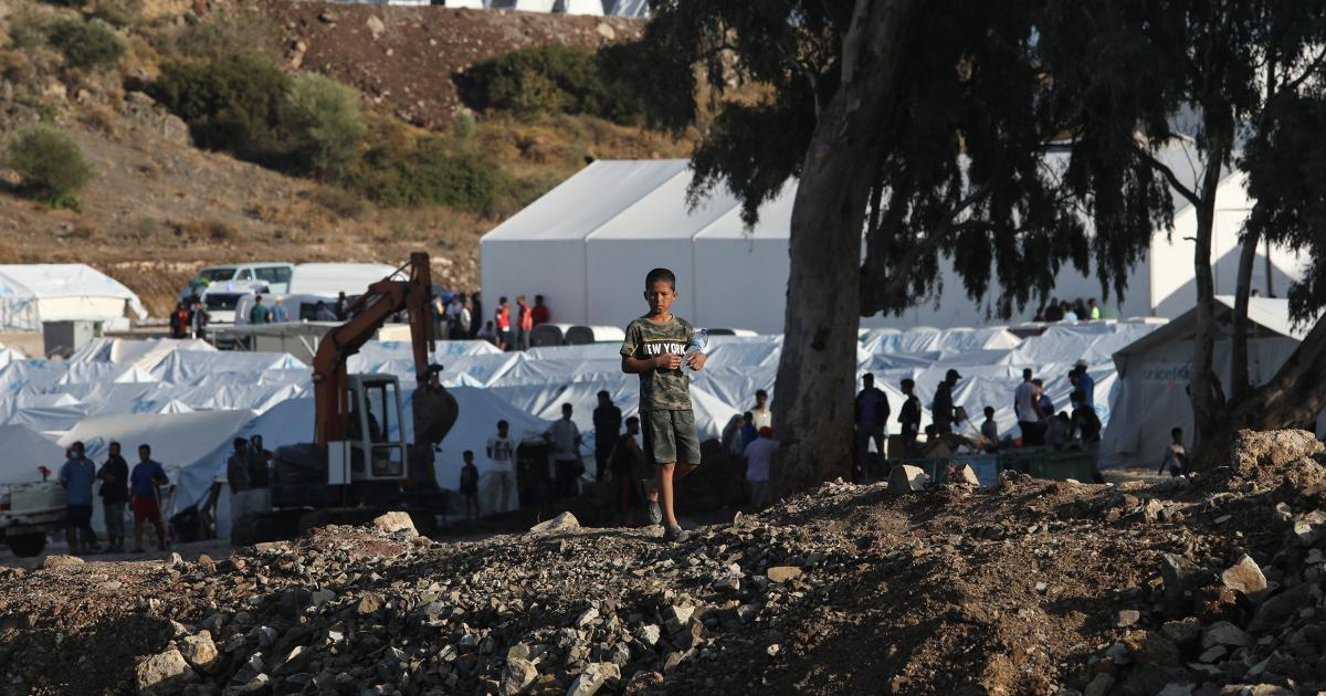 Griechenland: Erneut etliche Zelte im Flüchtlingslager auf Lesbos überflutet