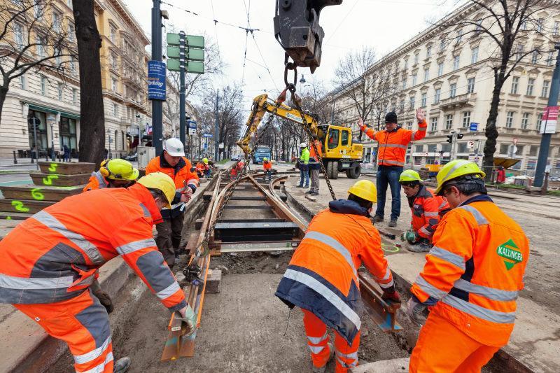 Wiener Ring wegen Gleisbauarbeiten ab Freitag gesperrt