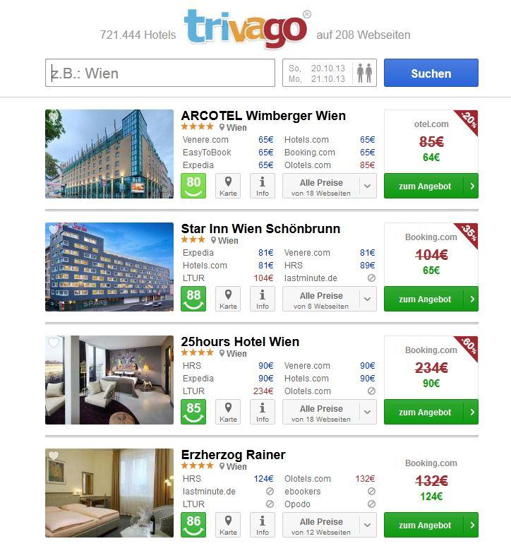 Trivago zeigt laut Urteil nicht die günstigsten Hotels an