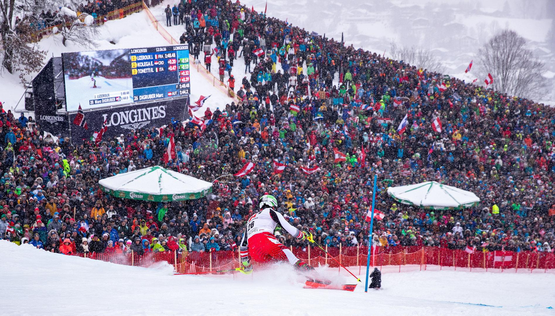 Live: Erster Durchgang beim Kitzbühel-Slalom