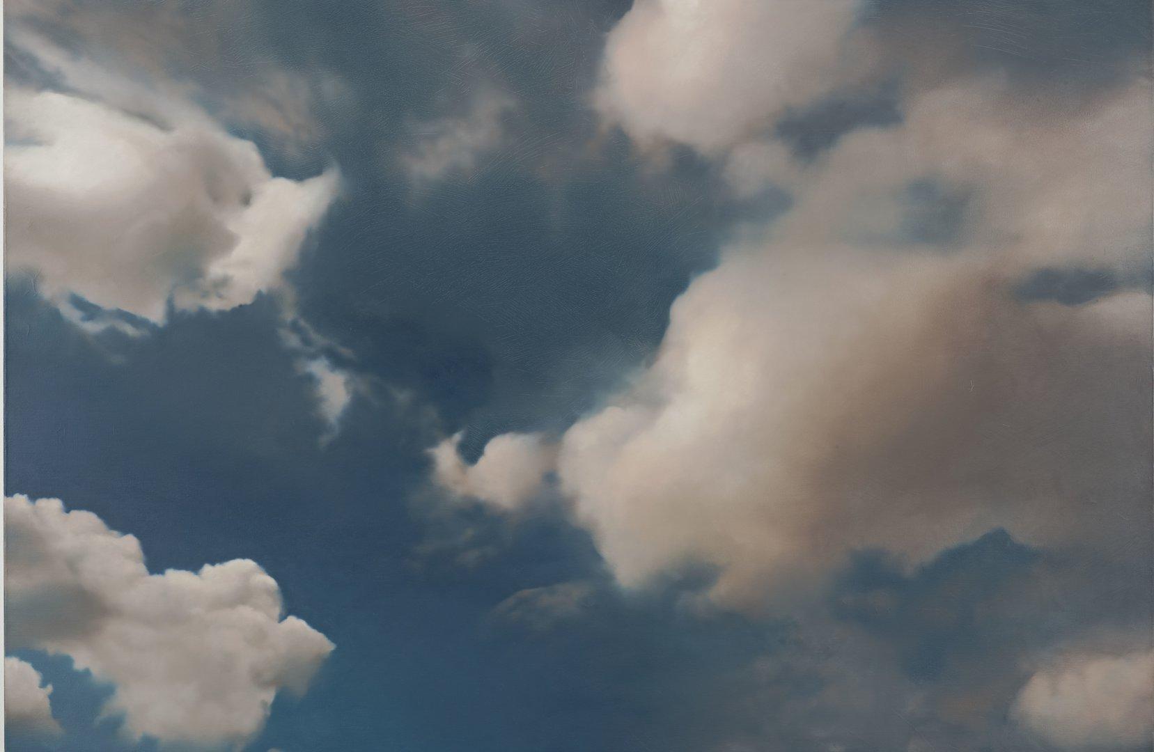 Wolkiger Himmel, stürmische Zeiten in der Kunst